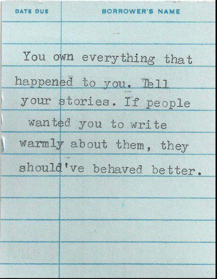 You own stories